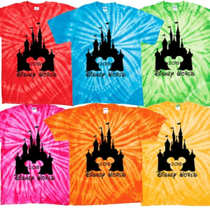 Disney_World_Matching_t_Shirt_Family_Vacation_2018_tie_dye_Clothing_Castle