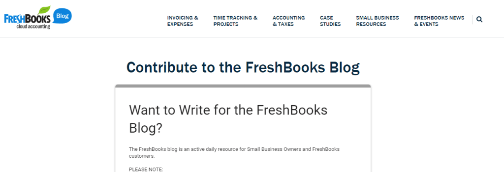 Make Money Writing Articles For Freshbooks
