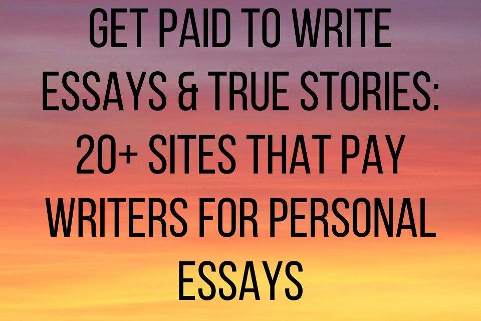 Get Paid to Write: 30 Websites that Offer Paid Writing Jobs []