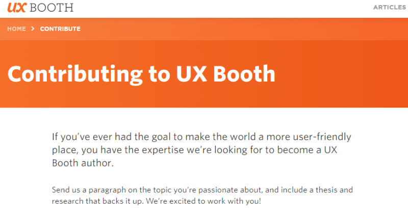 Write For UX Booth