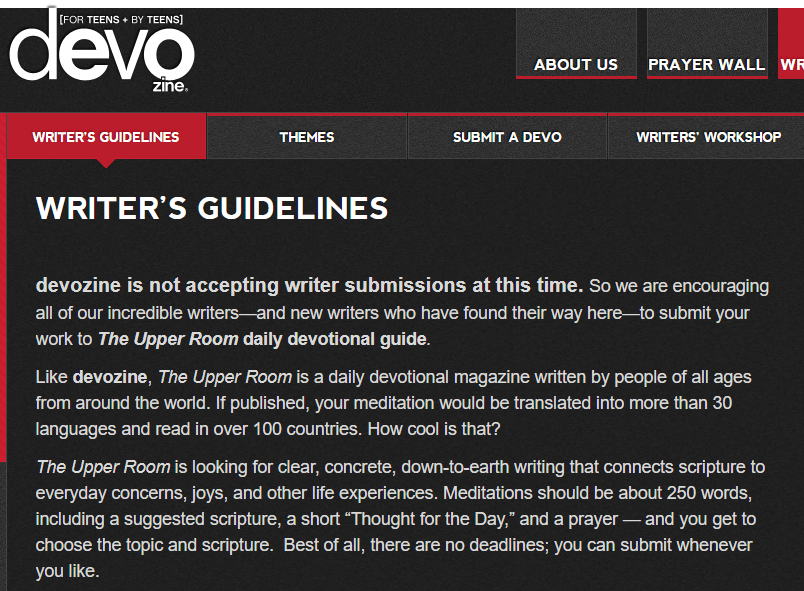 Write About Religion With Devo
