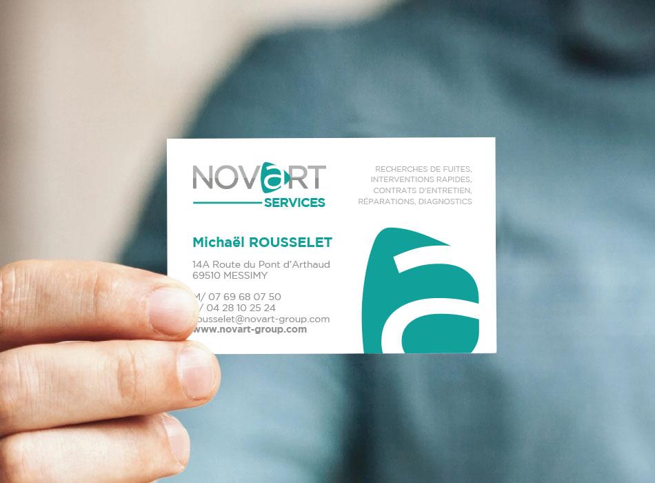 Carte de visite NOVART Services | Benjamin PIEGAY, graphiste à Lyon et dans les Monts du Lyonnais