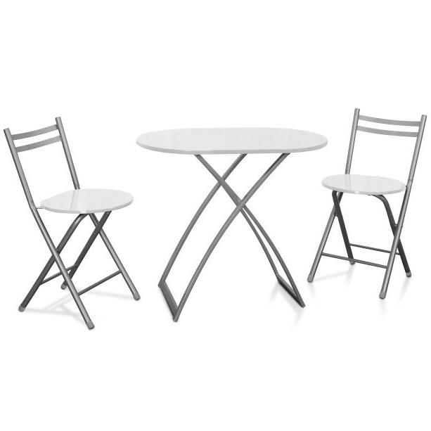 table de cuisine pliante avec chaises intégrées