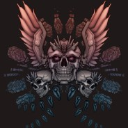 Skull and Wings Tattoo Print