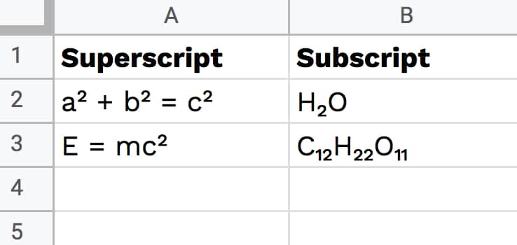 Whether it's windows, mac, ios or android, you will be able to download the images using download button. How To Add Subscript And Superscript In Google Sheets