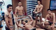 Gay shirtless nude naked guys dudes men at gym