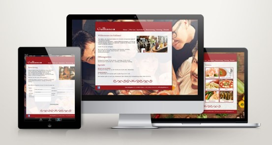 Webdesign for Restaurant Galliano