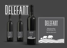 Wine Label and Corporate Design (Mock-Up) for Delefant