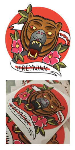 Stickers for Tattoo Artist Reynink