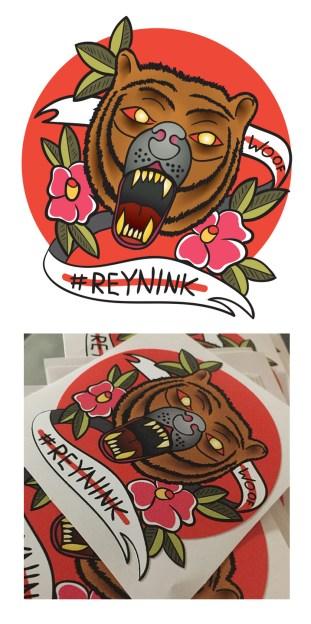 Stickers for Tattoo Artist Reynink