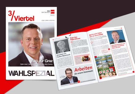 Magazine Layout for SPÖ Graz (Social Democratic Party)