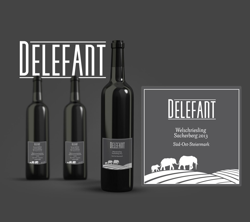 Delefant Logo and Label Mockup
