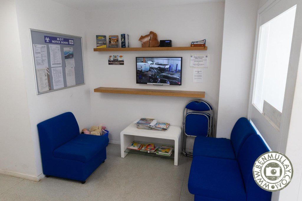 Brae Garage, Shetland reception area