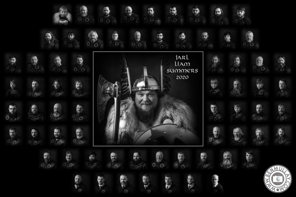 Up Helly Aa 2020 Jarl Squad featuring Liam Summers aka Odin, Lord of the Gallows