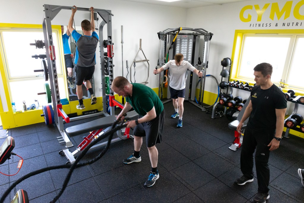 Group Training session at Gym Gair in Shetland - photo by Ben Mullay
