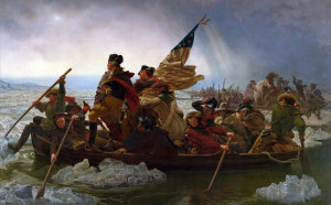 Washington crossing the Potomac