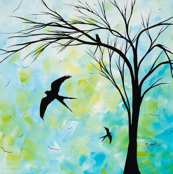 Beautiful Bird Paintings Simple