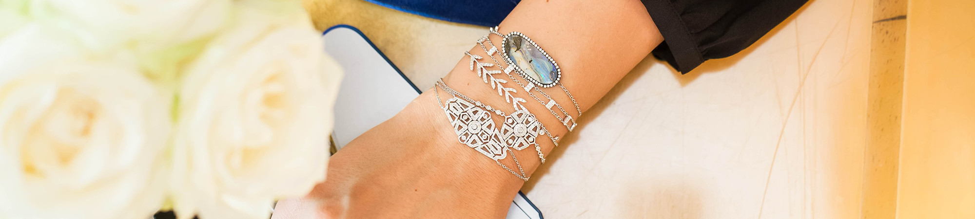Stack your bracelets for a fun new look.