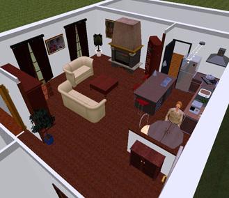 Agencement intrieur architecturale 3D pour une maison particulier