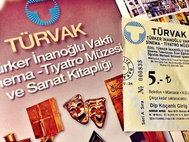 TÜRVAK Sinema-Tiyatro Müzesi bilet