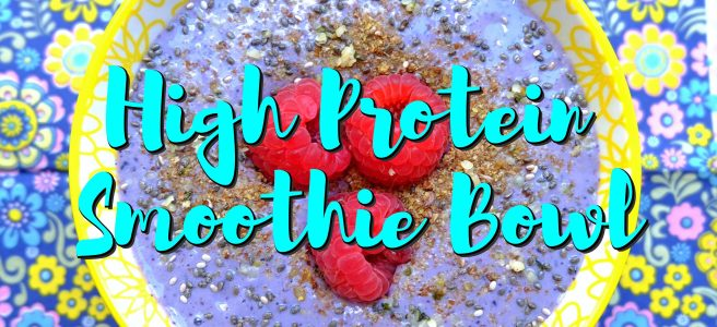 high protein smoothie bowl