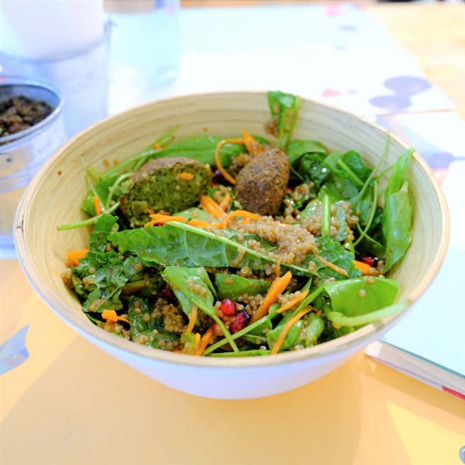 mixed salad bowl at kitchen garden by suzette mumbai