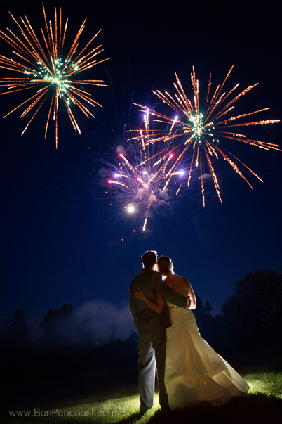Fireworks for a Wedding