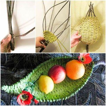 DIY-Beautiful-Paper-Woven-Tray-1-700x700
