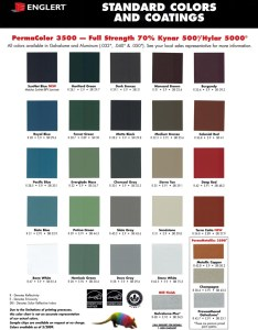 Englert color chart diagram also bensalem metal rh bensalemmetal