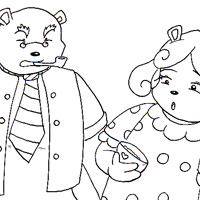 Goldilocks and the three little bears coloring story