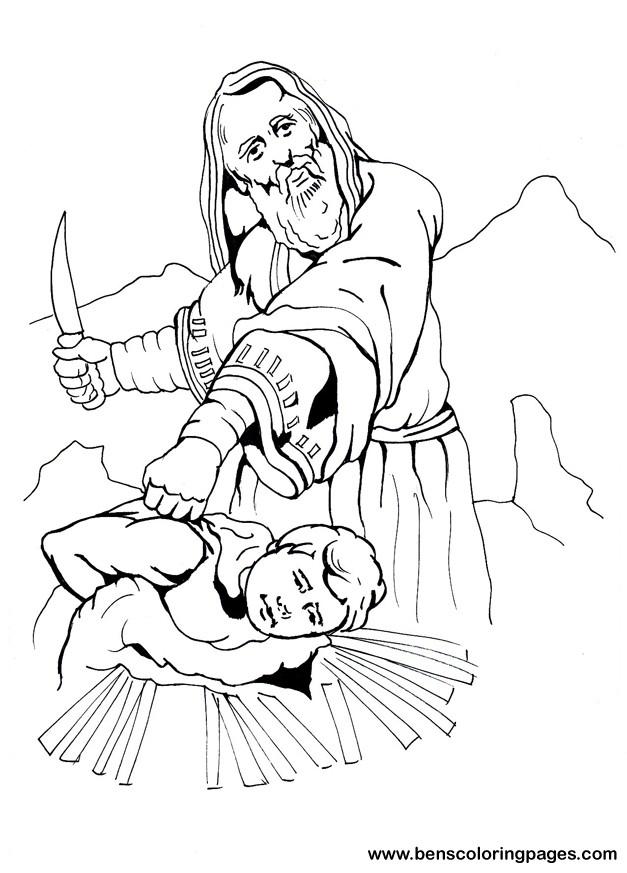 Abraham and Isaac bible coloring book.