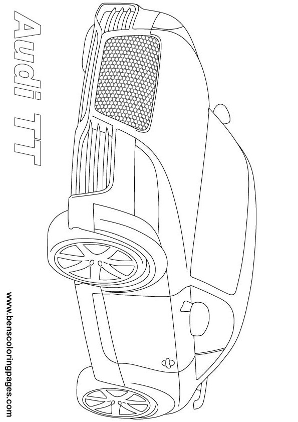 Audi coloring page