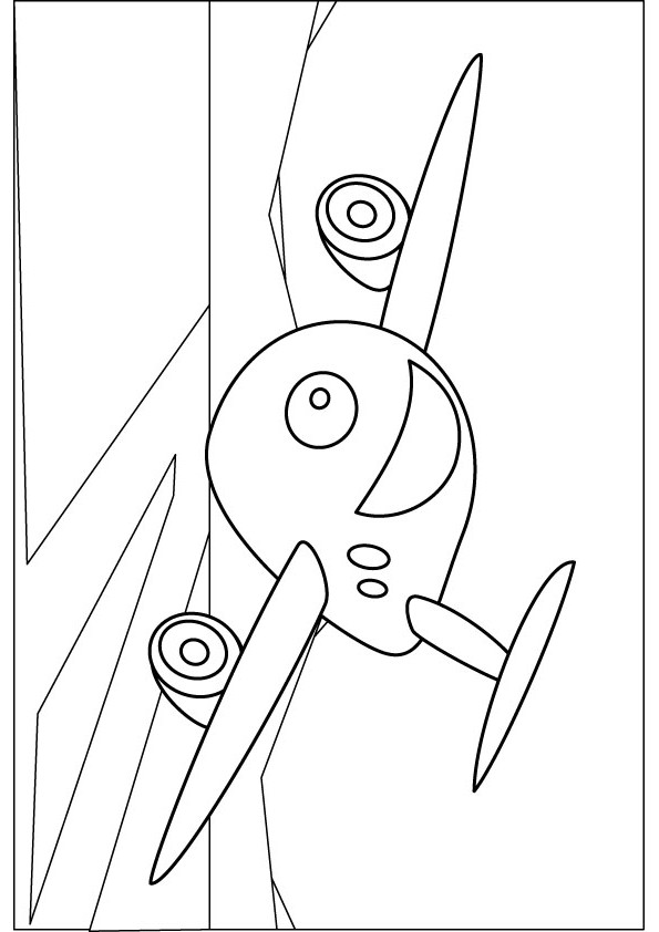 Free coloring pages of 747 airplane
