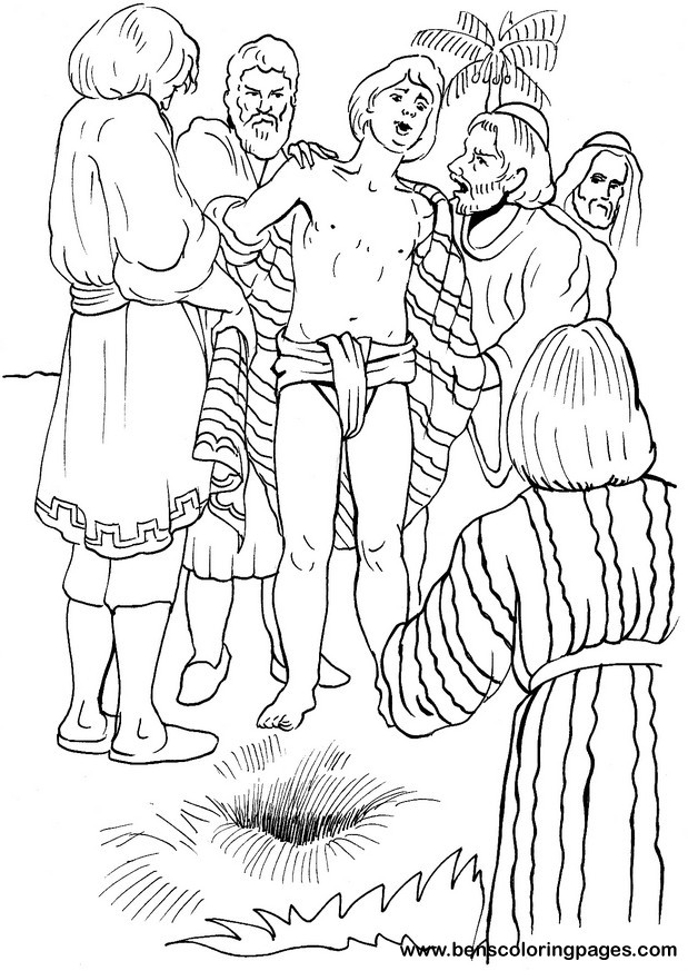 Free coloring pages of joseph sold into slavery