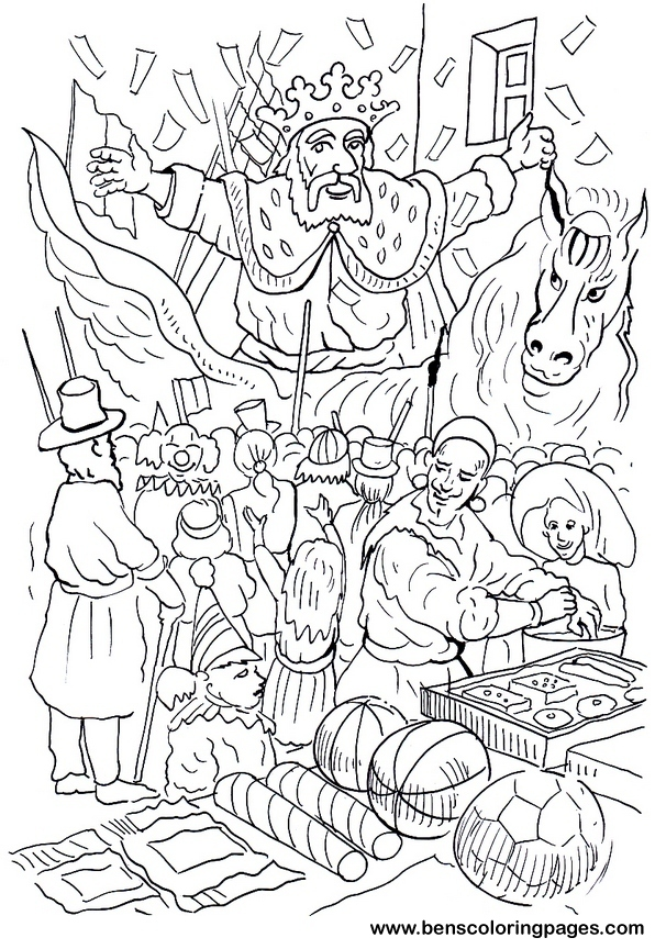 Carnival Coloring Pages Free
