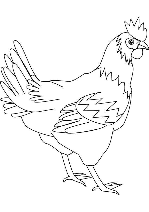 Free red hen story coloring pages
