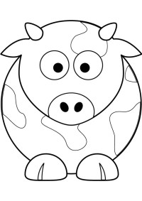 Kleurplaten Dieren Koeien.Cute Cow Animal Coloring Books For Kids Drawing