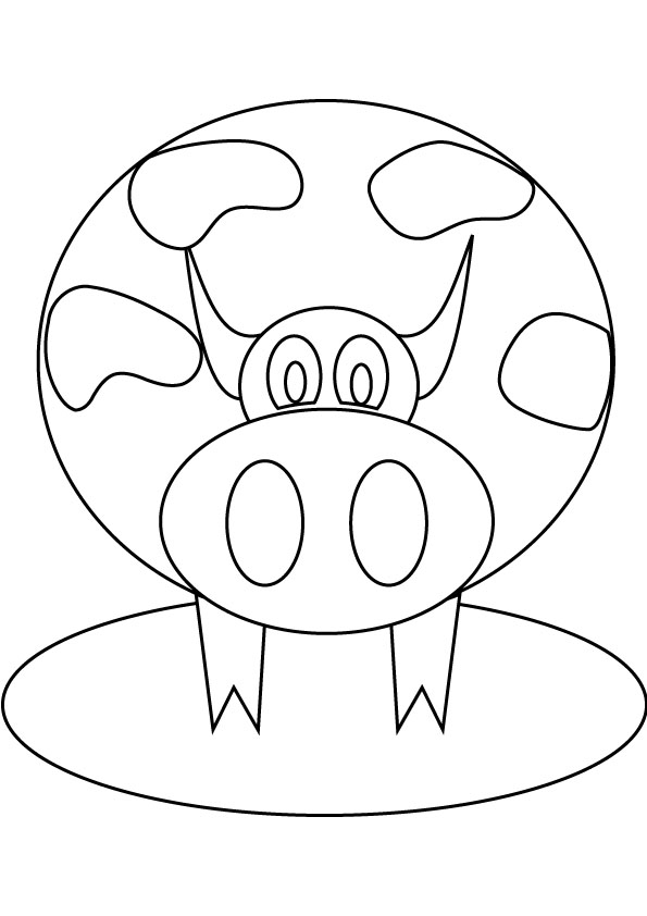 Fat Cow Coloring Picture For Free Picture to Pin on