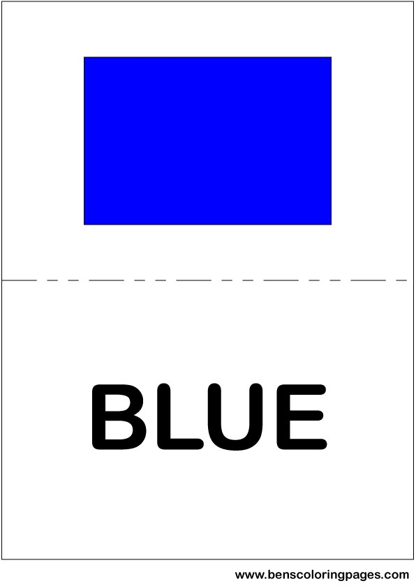 Colors In English Large Flashcards