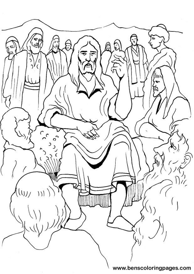 Free coloring pages of sermons