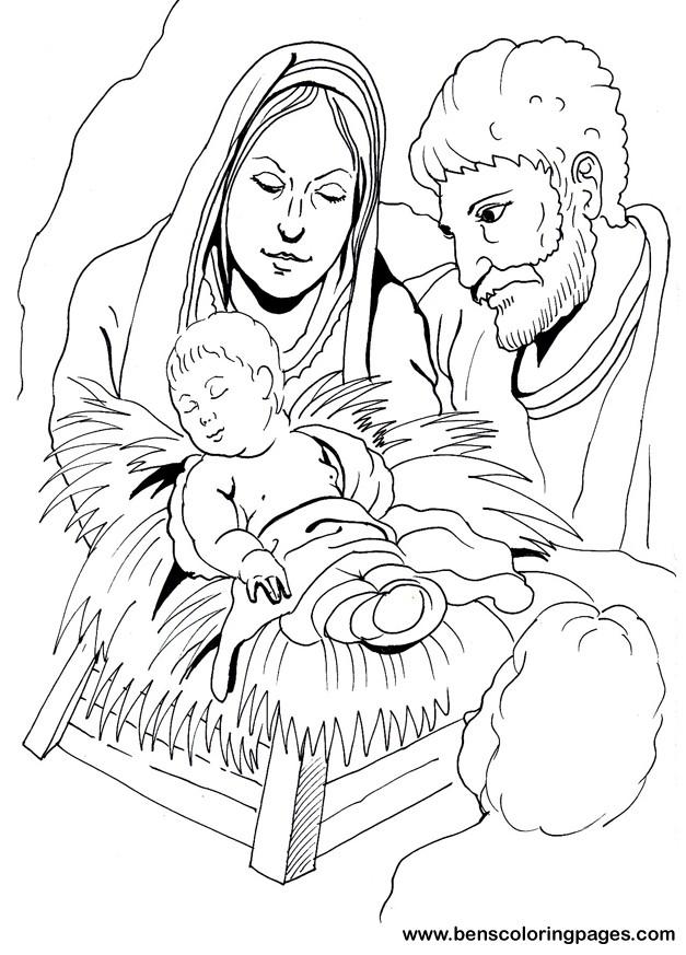 Out Page Cut Manger Jesus