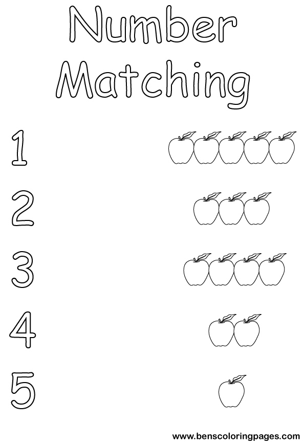 Numbermatch maths coloring sheets