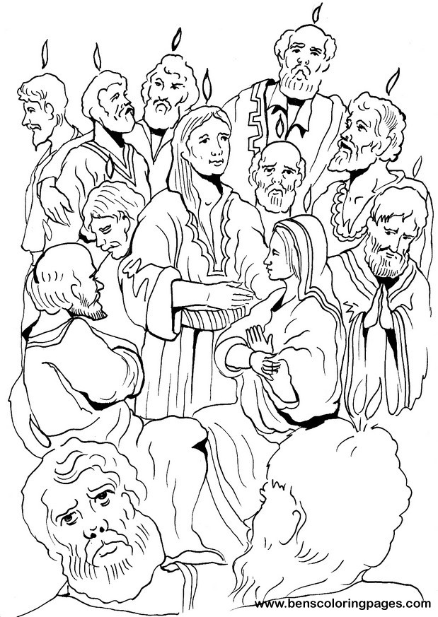 The Pentecost coloring page.