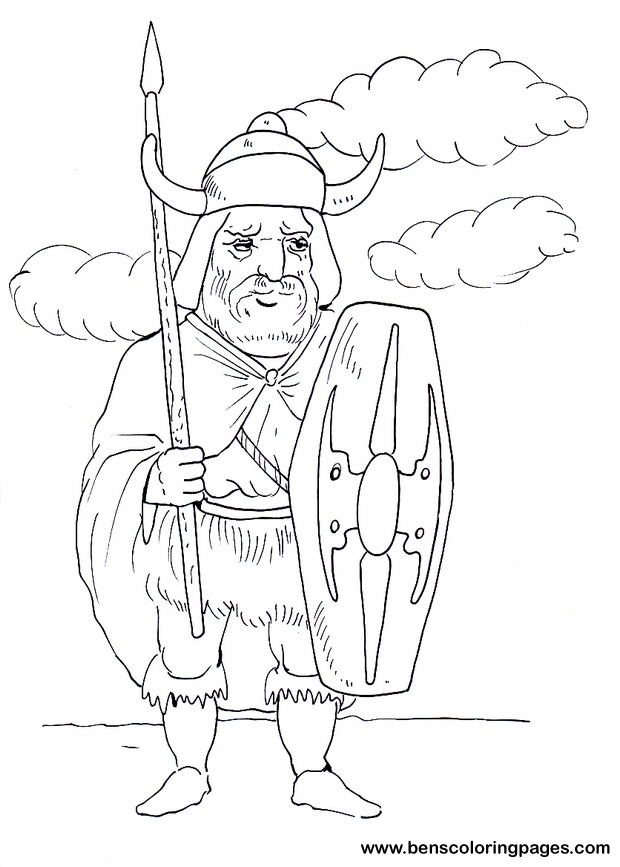 viking long house coloring pages
