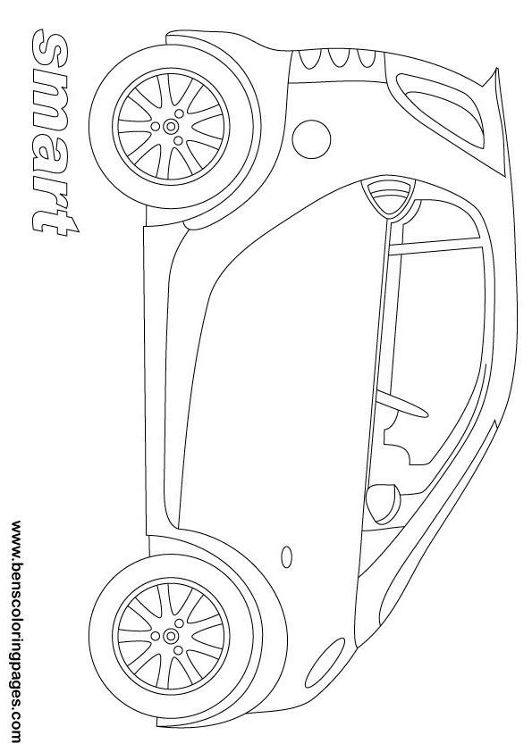 smart city car coloring page