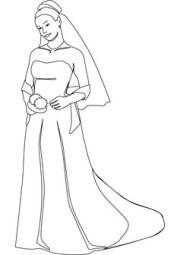 bride coloring