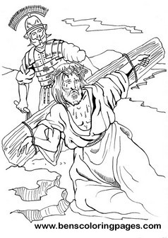 Calvary hill bible coloring page.