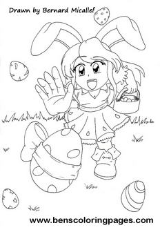 Magical easter eggs drawing