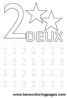 Learn to write number two in french.