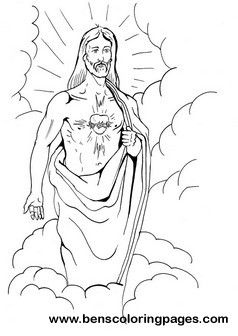 COLORING EASTER JESUS SHEET « Free Coloring Pages